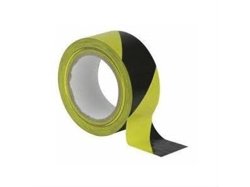 Absperrband schwarz-gelb 75mm x 500m