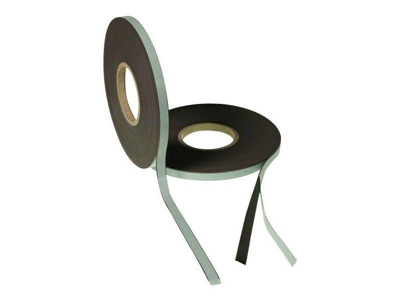 Zelfklevend magneetband 12,5 mm op rol
