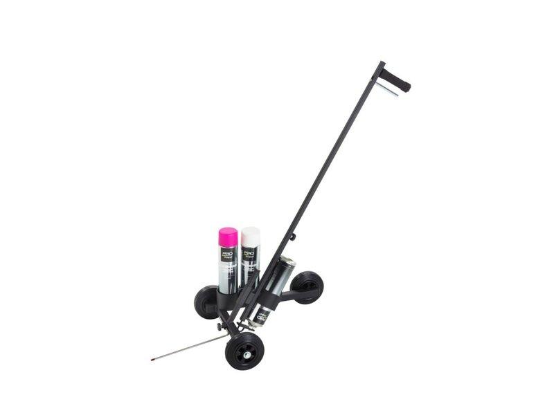 Pro-Paint Markierungswagen 3-Rad-Fahrgestell schwarz beschichtet