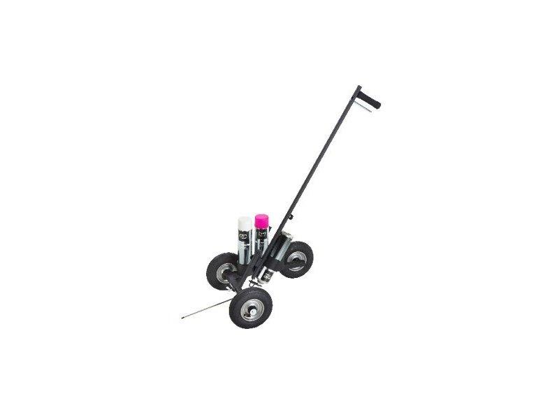 Pro-Paint Markeringswagen 3 wiel zwart gecoat met luchtbanden