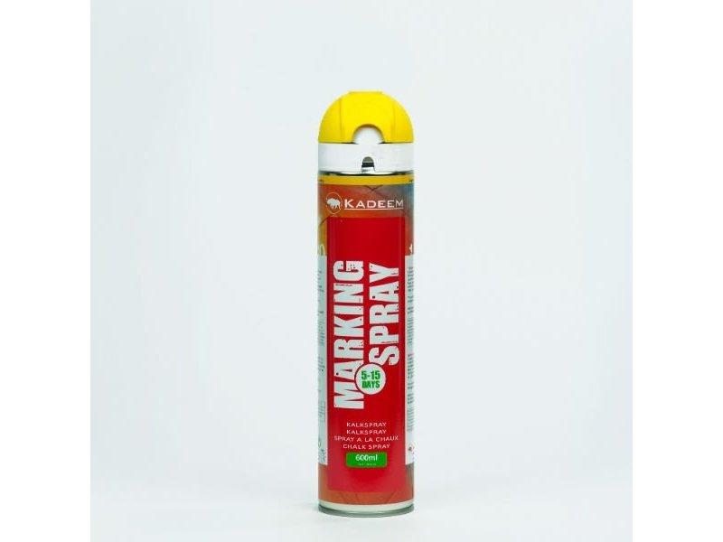 Kadeem Kreidespray temporäre Markierung Farbe Gelb 600 ml 360º