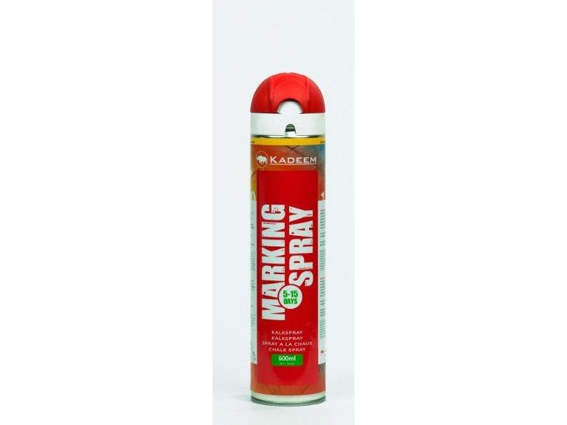 Kadeem Kreidespray temporäre Markierung Farbe Rot 600 ml 360º