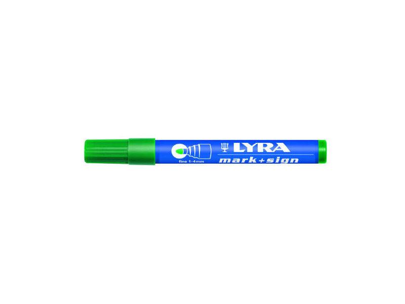 Lyra Mark + Sign marker 1-4 mm Groen
