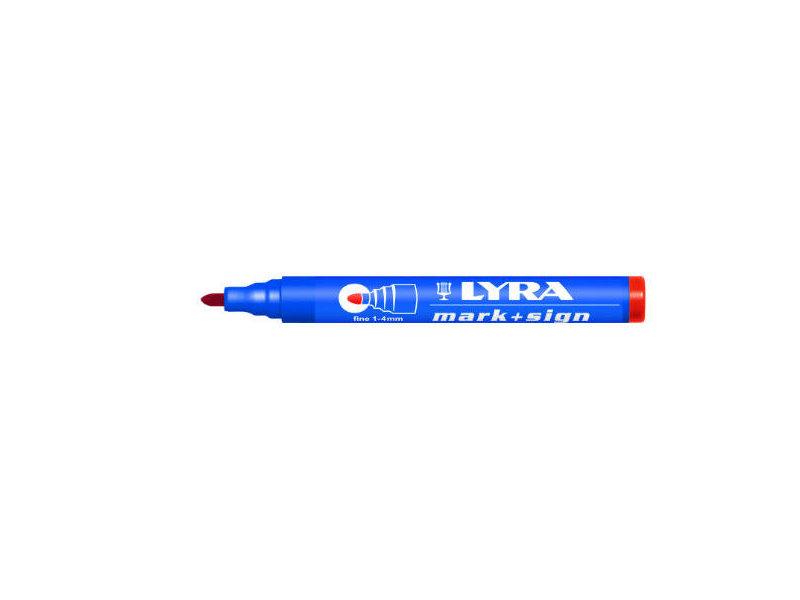 Lyra Mark + Sign marker 1-4mm Rood
