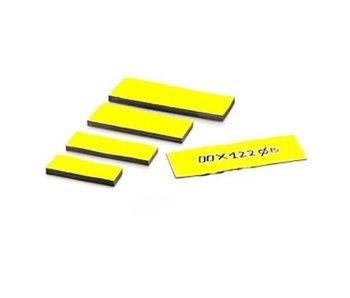 Magnetische etiketten 25 mm kleur geel