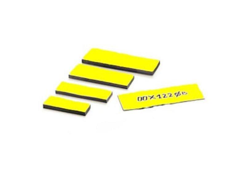 Magnetische etiketten 25 mm kleur geel diverse lengtes