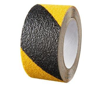 Antirutschband gelb - schwarz 50 mm x 18 mtr
