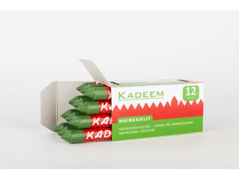Kadeem Kadeem Merkkrijt Groen (doosje van 12 stuks)