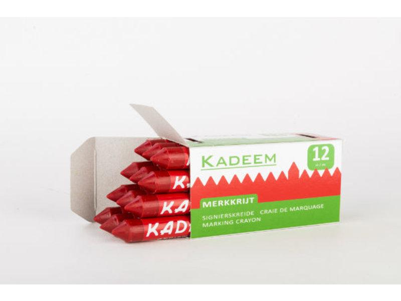 Kadeem Kadeem Merkkrijt Rood (doosje van 12 stuks)