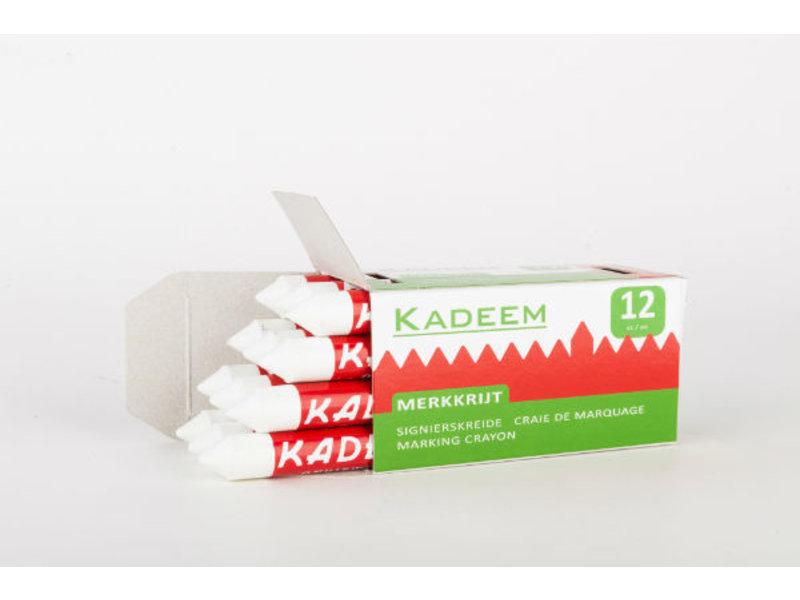 Kadeem Merkkrijt Wit (doosje van 12 stuks)