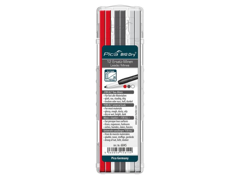 Pica 6045 Big Dry Navulling rood, grafiet, wit