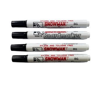 Snowman Snowman whiteboard markers BG-4 zwart