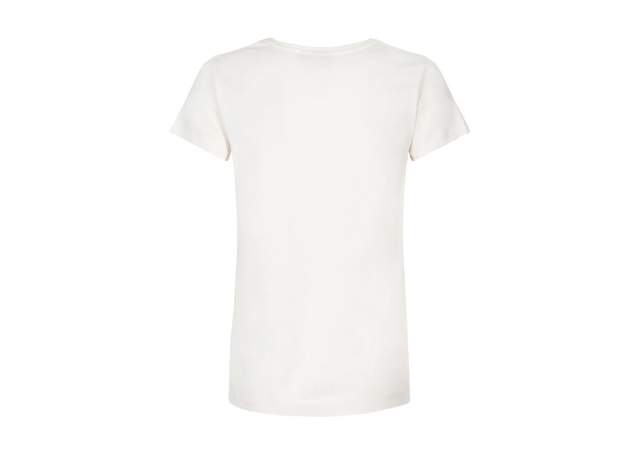 Mos Mosh 309 T-shirt Arden Logo Embroidary Ecru