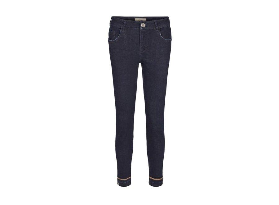 Mos Mosh 457 Broek Summer Glam Jeans Dark Blue Denim