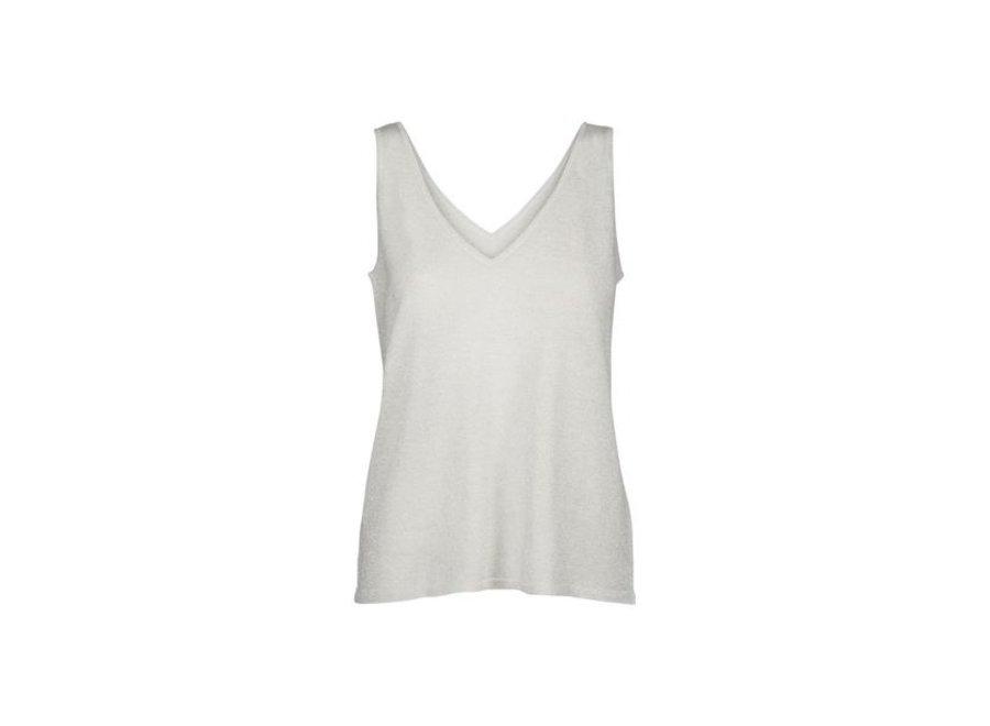 Minus 218 Top Carli knit Silver w/lurex