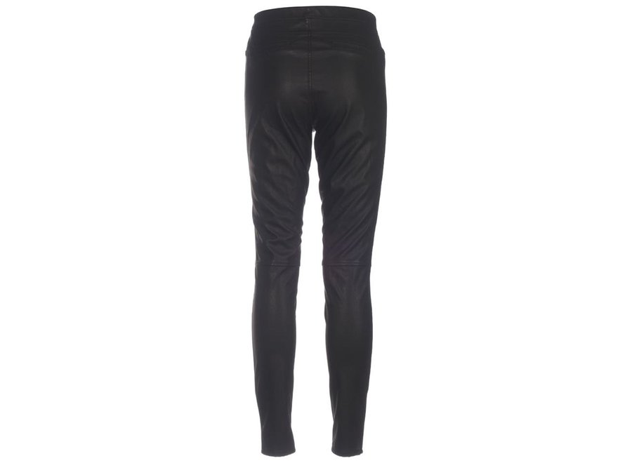 Knit-ted 427 Leren broek Amber zwart