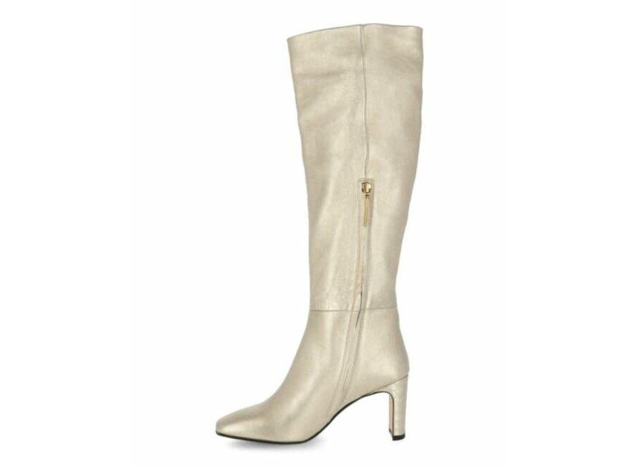 F B Shiny gold boot