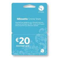 Silhouette 2 stuks Silhouette downloadkaart totaal t.w.v. € 40.00 (digitaal)