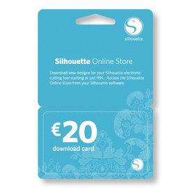 2 stuks Silhouette downloadkaart totaal t.w.v. € 40.00 (digitaal)