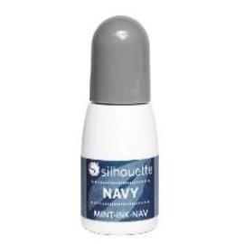 Silhouette Mint stempel inkt marine blauw op=op