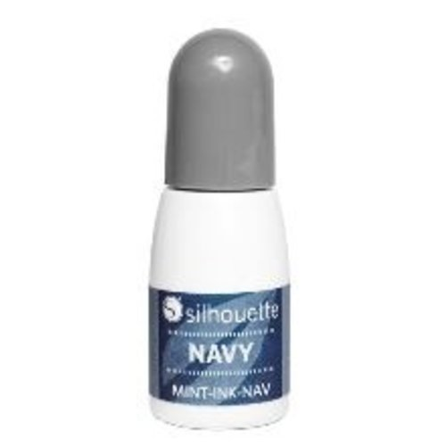 Silhouette Silhouette Mint stempel inkt marine blauw op=op