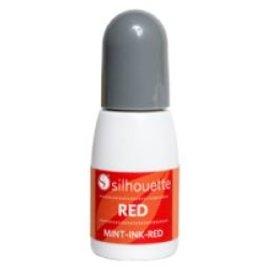 Silhouette Mint stempel inkt rood op=op