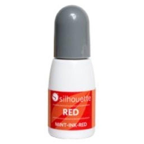 Silhouette Silhouette Mint stempel inkt rood op=op