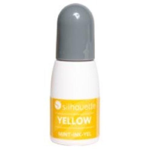 Silhouette Silhouette Mint stempel inkt geel op=op