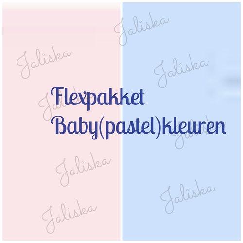 Pakket Flexfolie Baby(pastel) kleuren 10 vellen