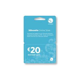 Silhouette downloadkaart t.w.v. € 20.00 (digitaal)