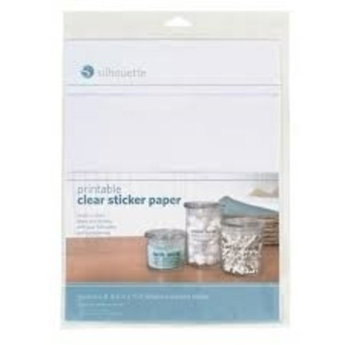 Silhouette Silhouette Printable clear sticker paper