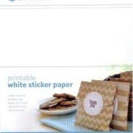 Silhouette Printbaar zelfklevend wit papier