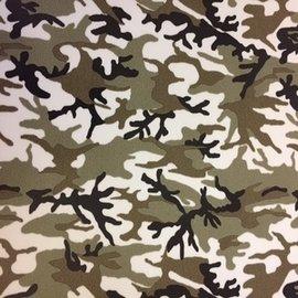 Fashion flexfolie camouflage beige-groen