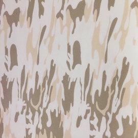 Fashion flexfolie camouflage beige-creme