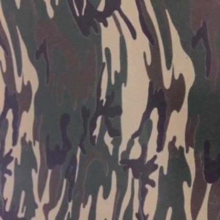Fashion flexfolie camouflage legergroen