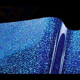 Vinylfolie Metal Flake holografisch Blauw