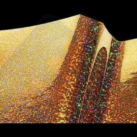 Vinylfolie Metal Flake holografisch Goud