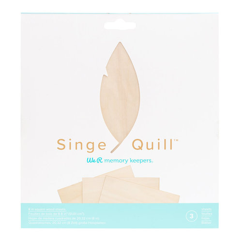 Foil Quill (We R Memory Keepers) Singe Quill houten plaatjes
