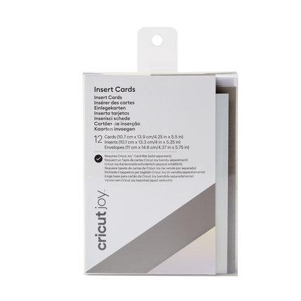 Cricut Cricut Joy Insert Cards Grijs/mat Zilver holografisch