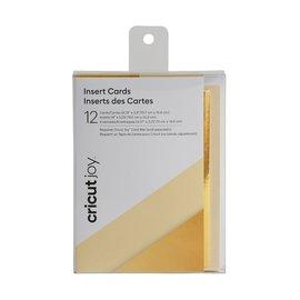 Cricut Joy Insert Cards Creme/Goud holografisch