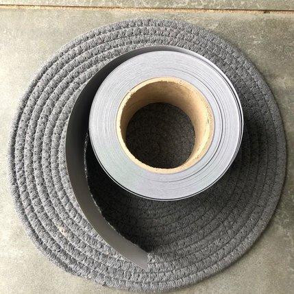 Statische raamfolie zwart 25 m x 7,5 á 8,5 cm breed (OP=OP)