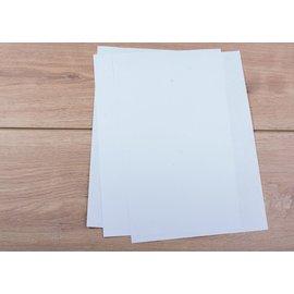 CL Media Zelfklevende sticker glans wit (SPF20) A4  (5st)