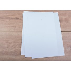 CL Media Zelfklevende sticker mat transparant (SPF12) A4