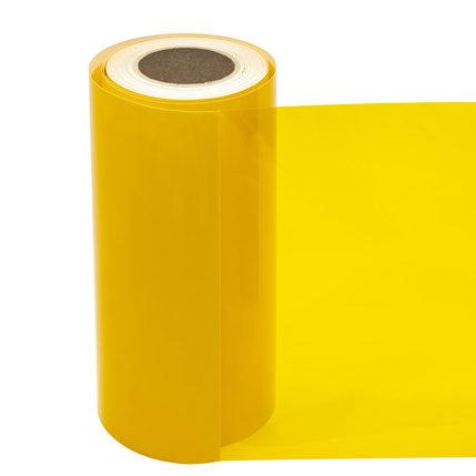 Statische raamfolie transparant geel
