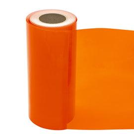Statische raamfolie transparant oranje