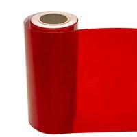 Statische raamfolie transparant karmijn rood