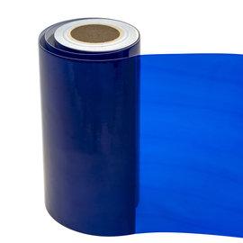 Statische raamfolie transparant blauw