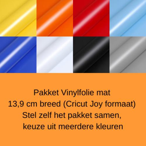 Pakket Vinylfolie mat 13,9 cm (Cricut Joy) zelf samenstellen