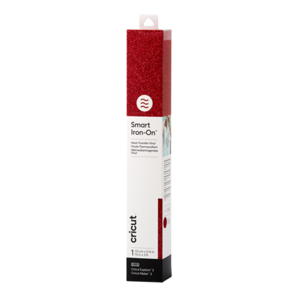 Cricut Cricut Smart Iron-On (Flexfolie) Glitter Red   2008675