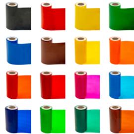 Statische Raamfolie rol 25 m x ca 7,5 - 8,5 cm diverse kleuren